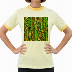 Upside-down forest Women s Fitted Ringer T-Shirts