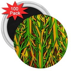 Upside-down forest 3  Magnets (100 pack)