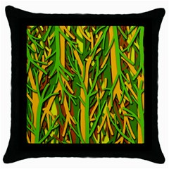 Upside-down forest Throw Pillow Case (Black)