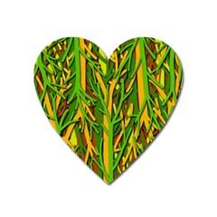 Upside-down forest Heart Magnet