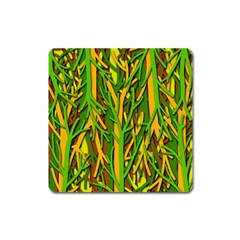 Upside-down forest Square Magnet