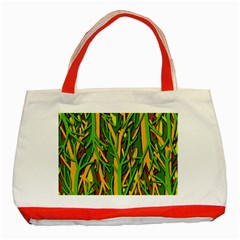 Upside-down forest Classic Tote Bag (Red)