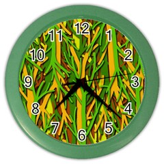 Upside-down forest Color Wall Clocks
