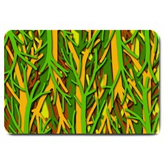Upside-down forest Large Doormat