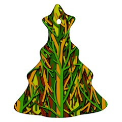 Upside-down forest Christmas Tree Ornament (2 Sides)