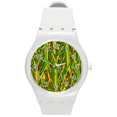 Upside-down forest Round Plastic Sport Watch (M)