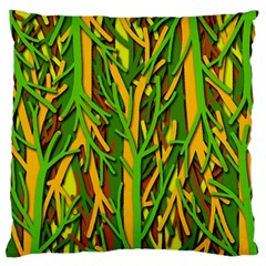 Upside-down forest Large Cushion Case (One Side)