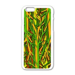Upside-down forest Apple iPhone 6/6S White Enamel Case