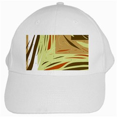 Brown decorative design White Cap