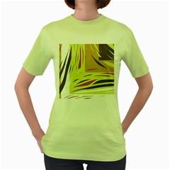 Brown decorative design Women s Green T-Shirt
