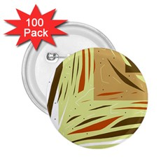 Brown decorative design 2.25  Buttons (100 pack)