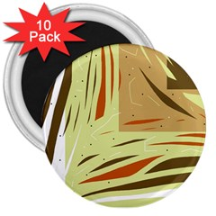 Brown decorative design 3  Magnets (10 pack)