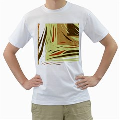 Brown decorative design Men s T-Shirt (White) (Two Sided)
