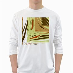 Brown decorative design White Long Sleeve T-Shirts
