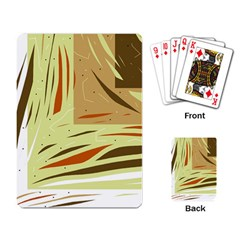Brown decorative design Playing Card