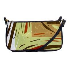 Brown decorative design Shoulder Clutch Bags
