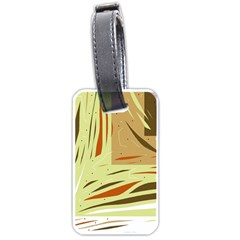 Brown Decorative Design Luggage Tags (one Side)
