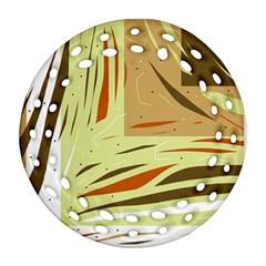 Brown decorative design Ornament (Round Filigree)