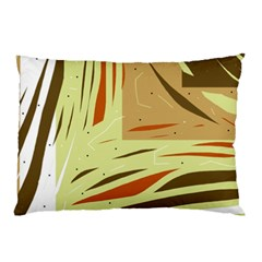 Brown decorative design Pillow Case (Two Sides)