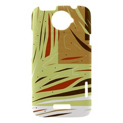 Brown decorative design HTC One X Hardshell Case