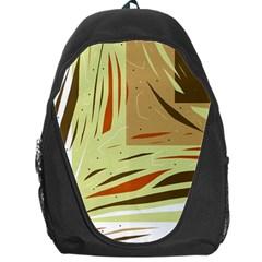 Brown decorative design Backpack Bag
