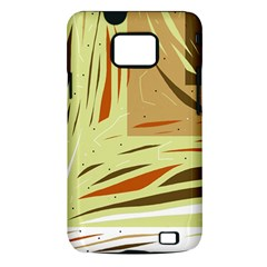 Brown decorative design Samsung Galaxy S II i9100 Hardshell Case (PC+Silicone)