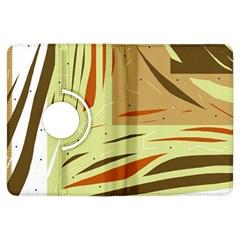 Brown decorative design Kindle Fire HDX Flip 360 Case