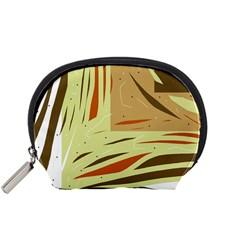 Brown decorative design Accessory Pouches (Small)