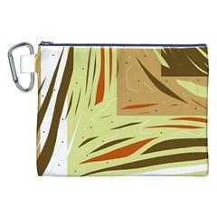 Brown decorative design Canvas Cosmetic Bag (XXL)