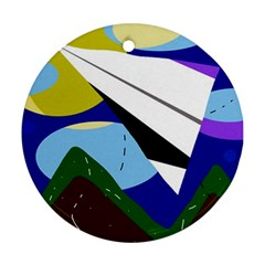 Paper airplane Ornament (Round)