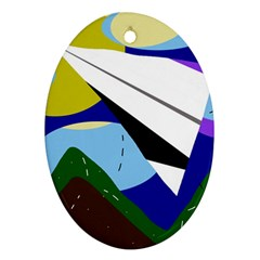 Paper airplane Ornament (Oval)