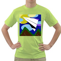 Paper airplane Green T-Shirt