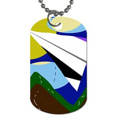 Paper airplane Dog Tag (One Side)