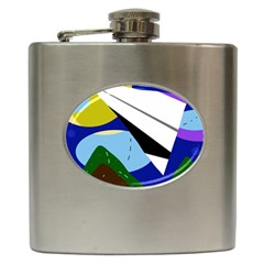 Paper airplane Hip Flask (6 oz)