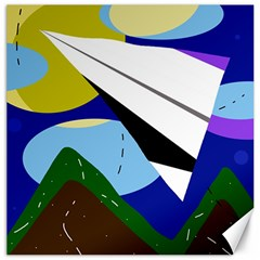 Paper airplane Canvas 12  x 12