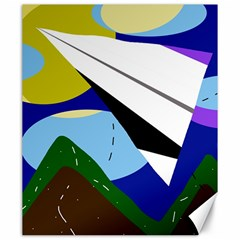 Paper airplane Canvas 20  x 24