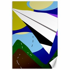 Paper airplane Canvas 24  x 36