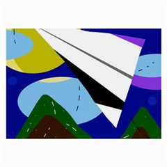 Paper airplane Large Glasses Cloth
