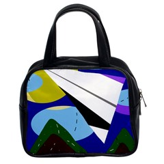 Paper airplane Classic Handbags (2 Sides)