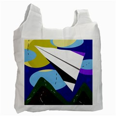 Paper airplane Recycle Bag (One Side)