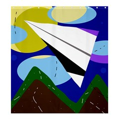 Paper airplane Shower Curtain 66  x 72  (Large)