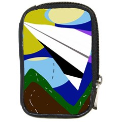 Paper airplane Compact Camera Cases