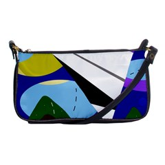 Paper airplane Shoulder Clutch Bags
