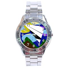 Paper airplane Stainless Steel Analogue Watch