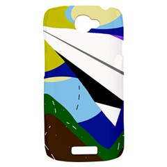 Paper airplane HTC One S Hardshell Case