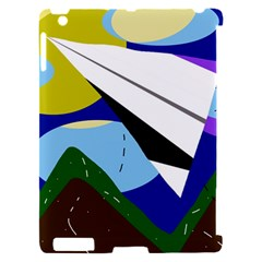 Paper airplane Apple iPad 2 Hardshell Case (Compatible with Smart Cover)
