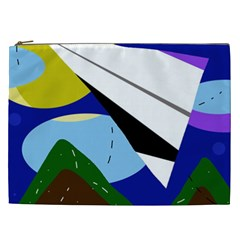 Paper airplane Cosmetic Bag (XXL)