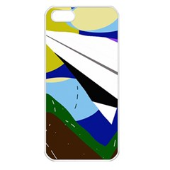 Paper airplane Apple iPhone 5 Seamless Case (White)