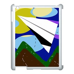 Paper airplane Apple iPad 3/4 Case (White)