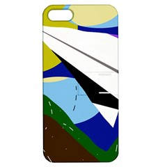 Paper airplane Apple iPhone 5 Hardshell Case with Stand